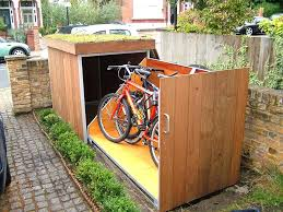 outdoor bike storage solutions collect this idea outdoor bike garage diy outdoor bike storage solutions outdoor bike