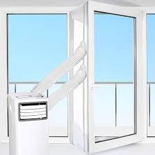 Hoomee Tür Und Fensterabdichtung Für Mobile Klimageräte Klimaanlagen Wäschetrockner Ablufttrockner Air Stop Zum Anbringen An Flügelfenster
