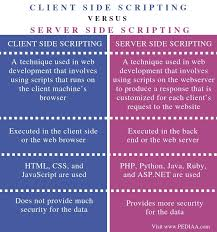 Server Side Work Chart Difference Between Client Side Scripting And Server Side