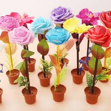 office christmas party favors. Cute Rose Flower Ballpoint Pens Children Blue Ink Writting School Office Christmas Party Favors Gift L