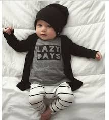 Image trendy baby Aliexpress Coming Home Outfit Baby Shower Gift Newborn Baby Boy Baby Boy Clothes Baby Present Modern Baby Jumper Black White Baby Trendy Baby Dhgatecom Lazy Days Set baby Boy Romper Coming Home Outfit Baby Shower