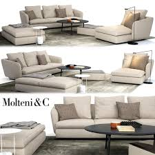 molteni c sloane sofa belsize table set 3d model max fbx