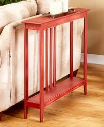 slim space saving accent table storage furniture livingroom