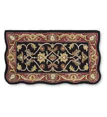hand tufted fire resistant scalloped wool mclean hearth rug