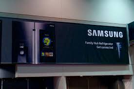 samsung refrigerator touch screen. ces 2016: poster shows samsung fridge with a big touch screen refrigerator