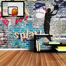 Shinehome Grote Custom Wallpapers 3d Sport Basketbal Oefening Gym
