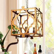best classic 4 light square open metal cage lantern suspended vm07