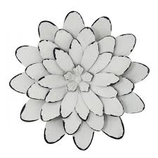 simple metal flowers wall art design decoration of on d flower wall sticker home decor pop