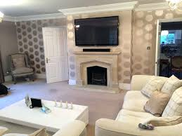 tv mounted over fireplace where to put cable box above ideas hide wires