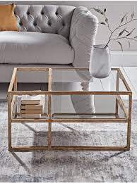 new burnished gold antiqued glass coffee table