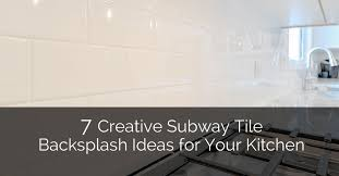 Subway Tile Backsplash Patterns Custom 48 Creative Subway Tile Backsplash Ideas For Your Kitchen Home