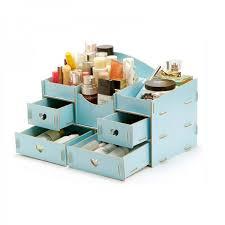 makeup organizer wood. fashion wooden makeup organizer light blue wood