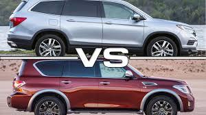 Honda Pilot vs Nissan Armada - YouTube