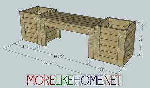 garden bench planter box. day 16 - build a bench and planters garden planter box