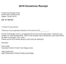 Sample Non Profit Donation Receipt Templates Tax Template Word