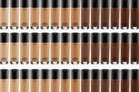Mac Studio Fix Fluid Foundation Colour Chart