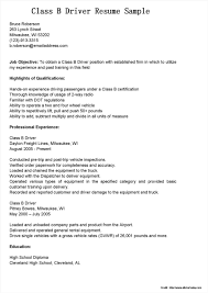 Resume For Semi Truck Driver Position Resume Resume Examples