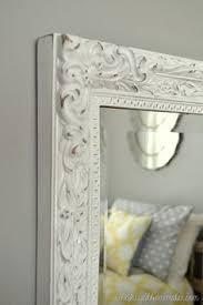 diy painted mirror frame. Spray Painted And Distressed Yard Sale Mirror Diy Frame