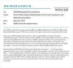 Email Memorandum Format Email Memo Template 6 Free Word Pdf Documents Download