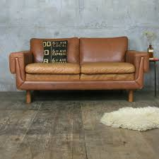 tan leather couch. Midcentury Danish Two Seater Tan Leather Sofa Couch F