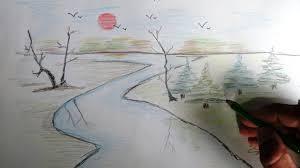 رسومات بالقلم الرصاص عن نهر النيل
