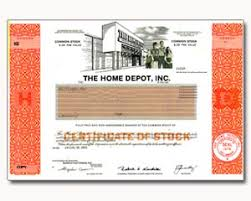 Small Picture One Real Share of Home Depot Stock in 2 Minutes Stock Gifts by