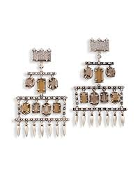 emmylou statement earrings in antique silver