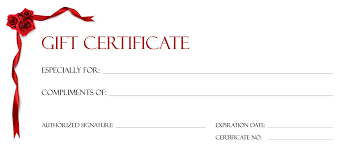 Blank Gift Certificate Awesome Makeup Gift Certificate Template