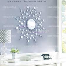 mirror wall art. metal wall mirror decor modern mirrored art wire decorative sunburst