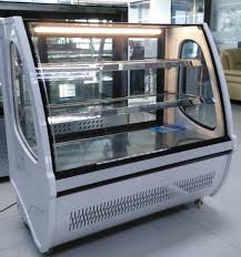 bakery display countertop cake showcase chiller dry case curved glass pe coated images