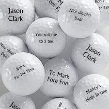 is your special man a golf fanatic if so he s sure to love these awesome and witty personalized golf choose wver message you like or use some