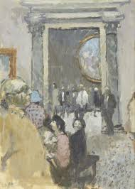 bernard dunstan r british born in the accademia signed with initials bd lower left titled and dated board verso oil on board 31 x x 8