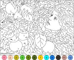 Small Picture Nicoles Free Coloring Pages COLOR BY NUMBER GOLD APPLES GARDEN