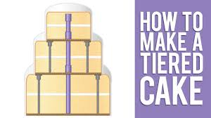 Learn How to Make a Tiered Cake - YouTube