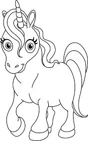 Tenero Unicorno Da Stampare E Da Colorare Disegni Da Colorare E