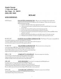 Resumes Church Volunteer Resume Sample Sales Lewesmr Section Example