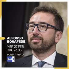Questa sera sarò ospite di Bruno Vespa a... - Alfonso Bonafede