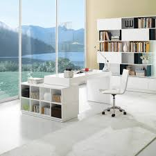 white modern office desk. Fearsome Modern White Gloss Lacquer Office Desk Pictures Con.
