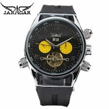 high quality nice watch brands promotion shop for high quality watch men mechanical automatic jaragar famous brand rubber strap leisure flywheel men s watch nice present wristwatch for men