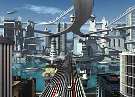 Image result for elevated highway of the future 60s