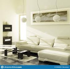 Inside A Living Room Focus Stock Illustration