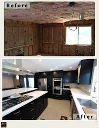L Shaped Kitchen Remodel Anaheim Hills Transitional Black And Stainless Steel L Shaped