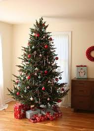 40 Christmas Tree Decorating Ideas  Christmas Tree Blue Red Silver And White Christmas Tree