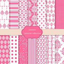 Pattern Collection Beauteous Pink Patterns Collection Vector Free Download