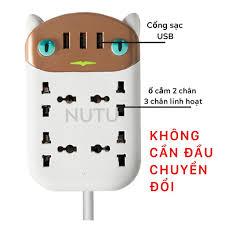 Ổ Cắm Điện Đa Năng Thông Minh, Ổ Điện 4 Cổng Có Đầu Cắm USB Chống Cháy Nổ  giá cạnh tranh