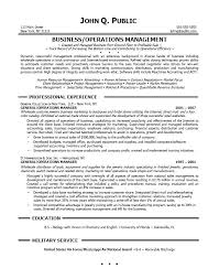 Operations Manager Resume Objective Examples Sample Resume For