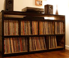 record storage furniture. record storage unit shelving with a black painted edge measures wide x deep high furniture