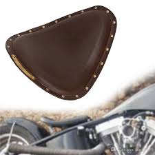 new motorcycle brown rive synthetic leather vintage front solo seat cover for harley honda yamaha kawasaki suzuki sportster