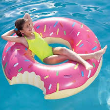 pool water with float. Image Is Loading Inflatable-Swim-Ring-Giant-Fun-Bite-Shape-Donut- Pool Water With Float