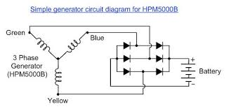hpmb wiring diagram for usa if you re using it as a wind generator you will require six heavy duty diodes or a suitable rectifier unit to rectify the ac voltage produced